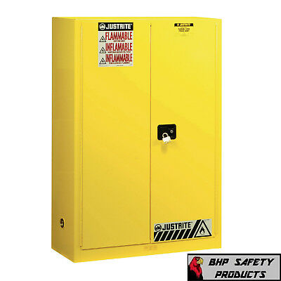 "Justrite 45 Gallon Flammable Safety Storage Cabinet 894500 (65"" X 43"" X 18"")"