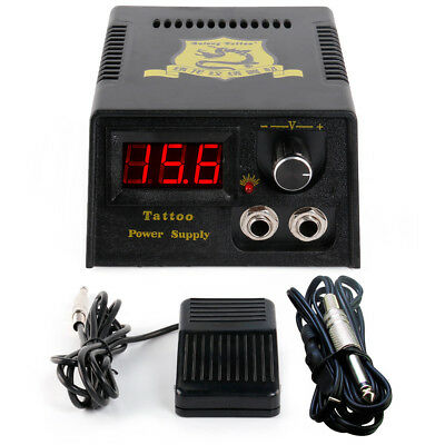 SolongTattoo Professional Digital Tatoo Power Supply Foot Pedal Clip Cord P142-2