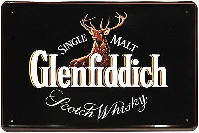 Glenfiddich Scotch Whisky 20 x 30 cm Reklame Retro Blechschild 196