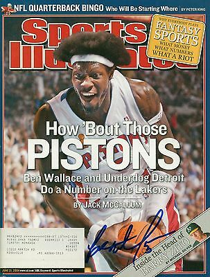 2004 BEN WALLACE SIGNED Detroit Pistons Sports Illustrated