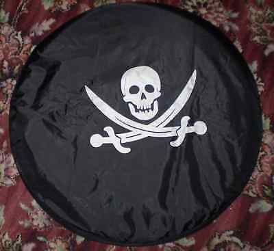 Skull soft wheel cover rear spare tyre danger wheelcover in all sizes !