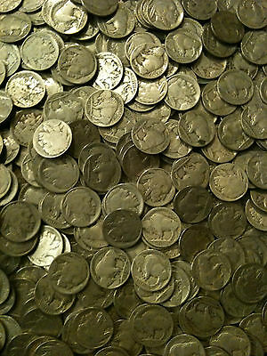 10x Buffalo Nickels P D S 1913-1938 Indian Head 5 Cent AG-AU 1 US Type 2 Horn