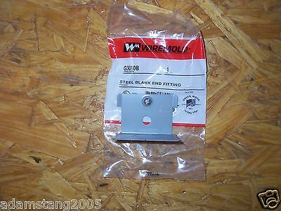 "New Wiremold Wire Mold G3010B Blank End Fitting 2-3/4"" Wide Gray"
