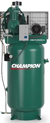 Champion Vrv5-8-1P 230V Air Compressor 5 Hp Single Phase 80 Gallon, Two Stage