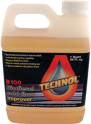 Lot of 12 x Quart of Technol B100 Biodiesel Cold Flow Improver Anti-Gel Additive