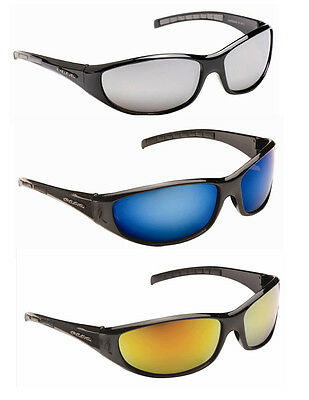 Mens Wrap Around Biker Ski Dark Shades Mirror Sunglasses Silver Orange Blue New