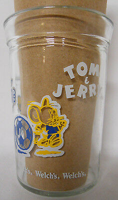 VINTAGE! 1992 Welch's Tom & Jerry Jelly Jar Glass-Soccer