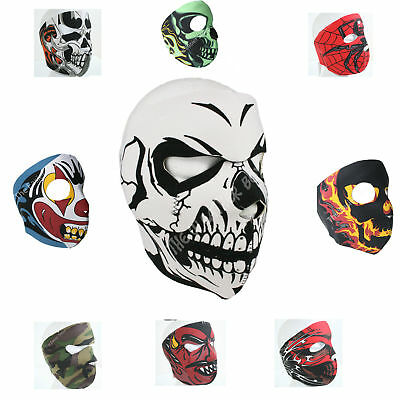 Neoprene Full Face Mask Motorbike Biker Ski Paintball Snowboard Sports Balaclava