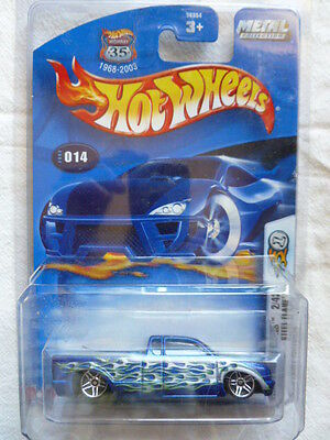 2003 First Edition Hot Wheels Steel Flame Truck Highway 35 Metal Collection