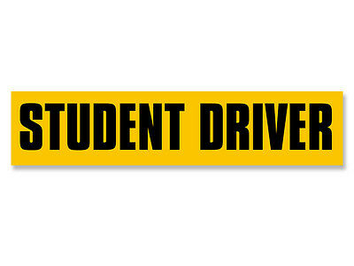 2x9 inch STUDENT DRIVER Bumper Sticker  - decal safety caution teen driving safe