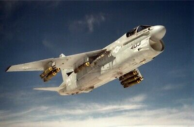 US NAVY USN A-7E Corsair aircraft heads for its target in Iraq 8X12 PHOTOGRAPH