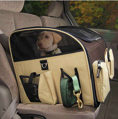 Valentina Valentti Luxury Dog Cat Puppy Pet Car Seat Carrier With Harness M Size