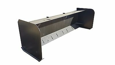 """New 90"""" Snow Pusher Skidsteer Attachment Quick Attach Free Shipping!"""