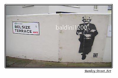 "BANKSY STREET ART /""POLICE POODLE/"" LARGE PHOTO LOOKS GREAT FRAMED"