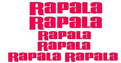Rapala Stickers x 6 also a Bonus 4 Stickers Free