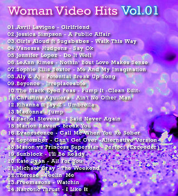 Promo Video Compilation 5 DVDs Woman Video Hits Vol 1-5