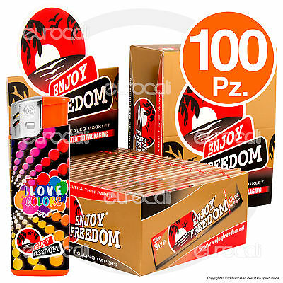 3200 Cartine ENJOY FREEDOM GOLD Lunghe Slim 100pz King Size - 2 Box