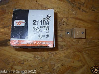 New Wiremold Wire Mold 2110A Entrance End Fitting Lot Of 13 Buff