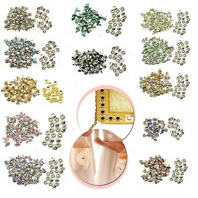 10 x 8mm Diamante Rivets for Leather Craft - 14 different Acrylic colours