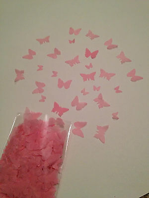 1000pcs Pink Butterfly Wedding Confetti Biodegradable Handmade Great Quality