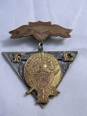VINTAGE KNIGHTS OF PYTHIAS PIN BACK BADGE - 1874