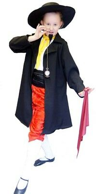 Victorian/Oliver/Boys/Girls/Unisex FAGIN VILLAIN FROCK COAT & HAT SET