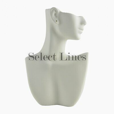 White Polystyrene Silhouette Necklace Earring Display