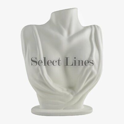 White Polystyrene Silhouette Necklace Display