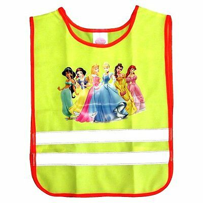 Disney Princess Childrens Safety Reflective Fluorescent Yellow Vest