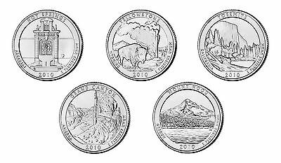 2010 P&D HOT SPRINGS Grand Canyon - MT HOOD all STATE BU PARK 10 QUARTER SET N89