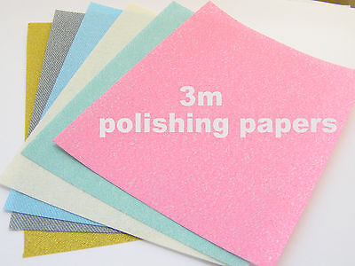 3M Polishing Papers for Art Silver Clay-COPPERclay-BRONZEclay-Precious Metals