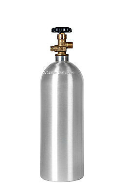 Homebrewed Draft Beer - 5 lb. CO2 Cylinder New Aluminum CGA320 Fresh Hydro Date