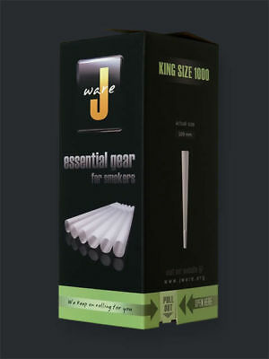 1000 Jware King Cones Pre-Rolled Rolling Paper 109Mm Full Box Lot Bulk Wholesale