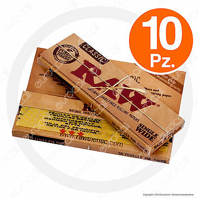 Cartine RAW Corte 10pz Single Wide Regular