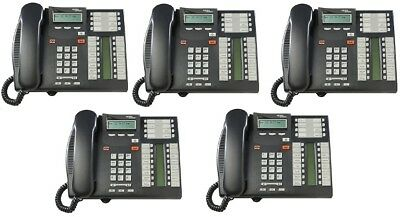 Nortel Norstar T7316e Charcoal Phones NT8B27JAAA Package of 5 Sets QTY: 5