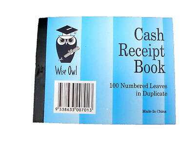 10 x Carbonless Cash Receipt Book Books 100-Leaves Duplicate Wholesale Bulk Lot