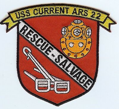 USS Current ARS 22 - Red bckgnd BC Patch Cat No C6830