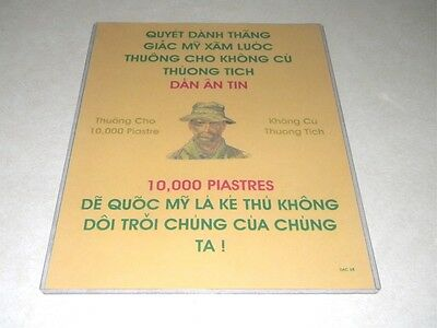 Vietnam War Nva Wanted Propaganda Flyer Very Rare Exact Reproduction