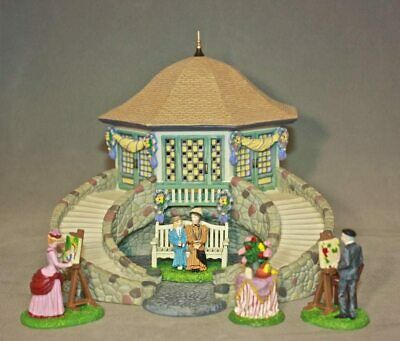 Dept 56 Seasons Bay PARKSIDE PAVILION GIFT SET/9 MINT!