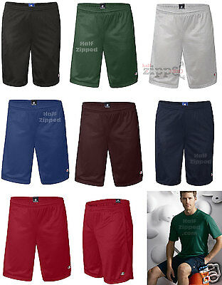 Champion Mens Poly Mesh 9in Inseam Gym Shorts w/ Pocket S162 S-2XL Basketball