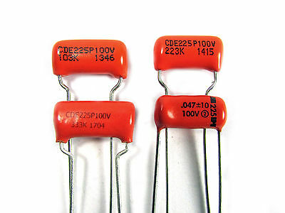 ORANGE DROP Capacitor 225P (.010uF  .022uF  .033uF  .047uF available)