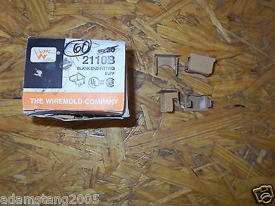 New Wiremold Wire Mold 2110B Blank End Fitting Box Of 60 Buff