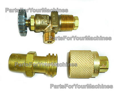 Lpg/propane Tank Shut Off Valve, Male & Female Couplers Kit By Rego, Made In Usa