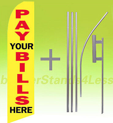 We Buy Gold Dollar Signs Swooper 12/' Flag 15/' Pole