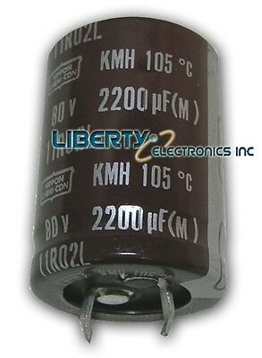 NEW 2200uF - 80V ELECTROLYTIC CAPACITOR 30x30mm