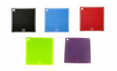 Mastrad Orka Silicone Square Pot Holder Trivet, 5 Colors to pick from