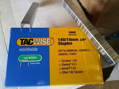 Rapid & Tacwise 140 Series Staples 8-14mm Galv, S/Steel/ T50 Staples/A11 Staples