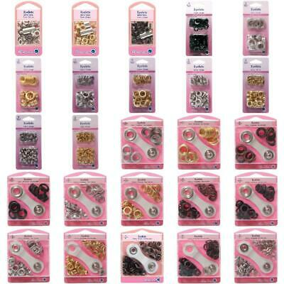 Eyelets.4 Sizes, 3 Colours. Tents, Corsets,Leather Work,Flags,Eye Let,Ring Metal