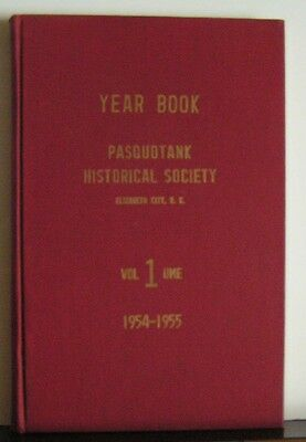 Yearbook Pasquotank Historical Society Vol. I 1955 North Carolina Genealogy
