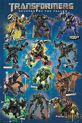 Transformers Revenge Of The Fallen Cast Official Poster New Fp2278 J121